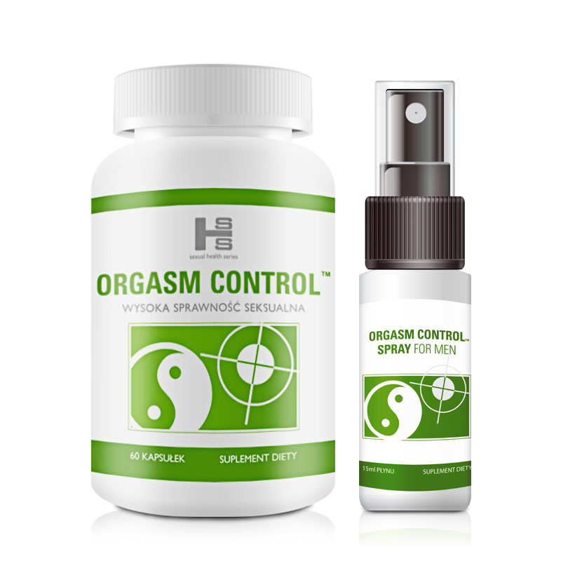 Orgasm Control 60tab + Spray 15ml - Komplet Pełnej Kontroli