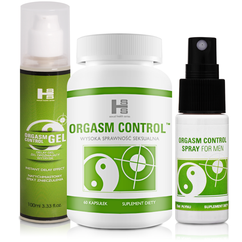 ORGASM CONTROL - 1 op. tab.+Gel+Spray GRATIS!