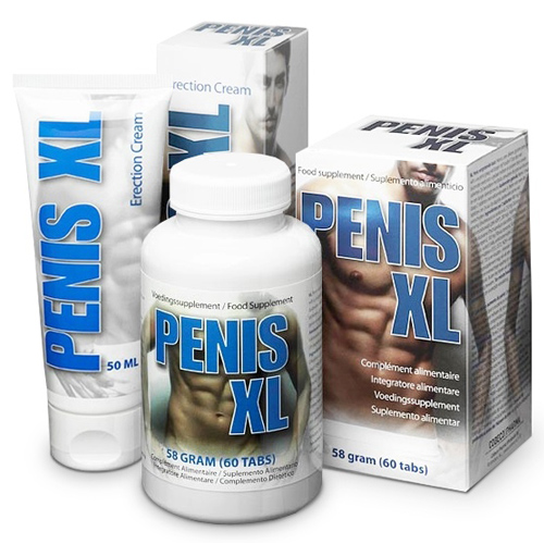3x Zestaw: Penis XL New Edition - 180 tab + 150ml kremu!