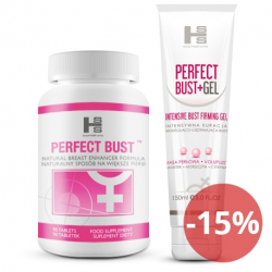 Zestaw 1op. Perfect Bust - 90 tab + 150ml Gel
