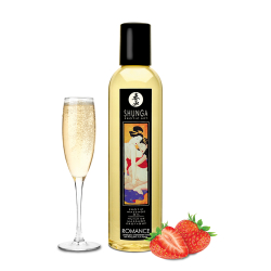 Shunga - Romance Massage Oil (STRAWBERRIES & CHAMPAGNE) 250 ml