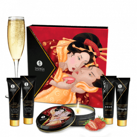 Shunga - Sparkling Strawberry Wine (zestaw)