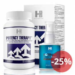Potency theraphy 60 tab + Potency Spray 50 ml - silna erekcja