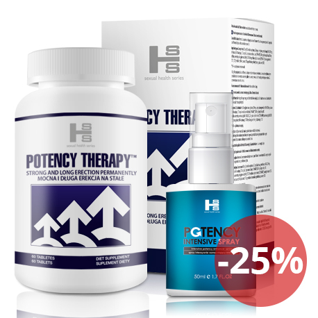 Potency theraphy 60 tab + Potency Spray 50 ml - silna erekcja