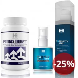 Potency theraphy 60 tab + Potency Gel 100 ml + Potency Spray 50 ml - maksymalna erekcja