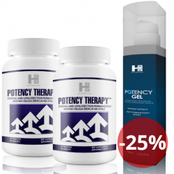2x Potency theraphy 60 tab (120tab.) + Potency Gel 100 ml - Silna Erekcja