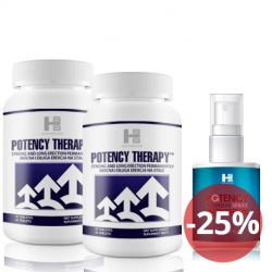 2x Potency theraphy 60 tab (120tab.) + Potency Spray 50 ml – Silna Erekcja