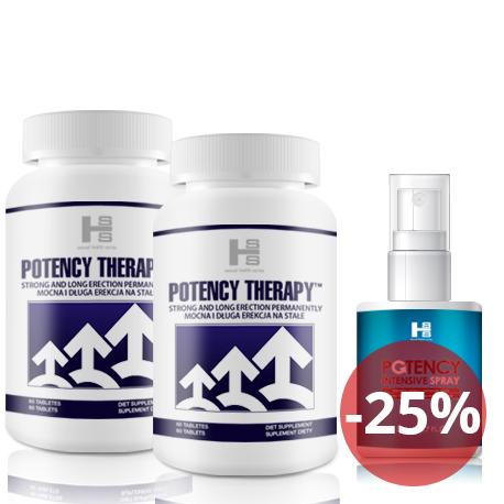 2x Potency theraphy 60 tab (120tab.) + Potency Spray 50 ml - Silna Erekcja