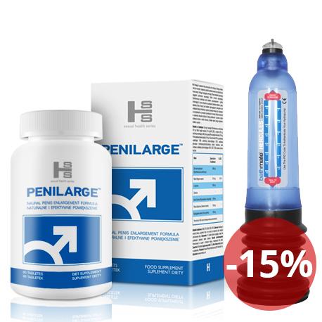 Bathmate HYDRO 7 - Niebieski + Penilarge 60 tab - Kompleksowe działanie