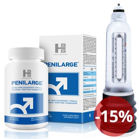 Bathmate HYDRO 7 - Przezroczysty + Penilarge 60 tab - Kompleksowe działanie