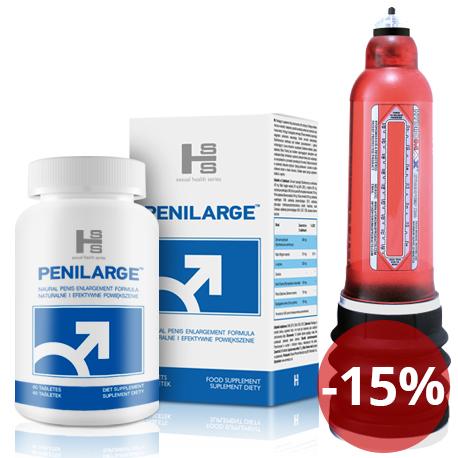 Bathmate HYDRO 7 - Czerwony + Penilarge 60 tab - Kompleksowe działanie