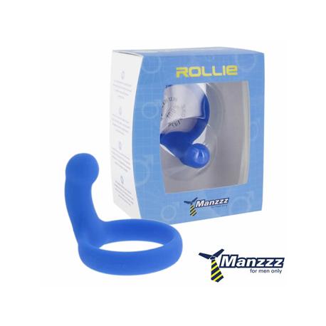 ManzzzToys - Rollie Blue  Pierścień na penisa + stymulator prostaty