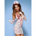 Medica sukienka kostium 5-częściowy + stetoskop L/XL