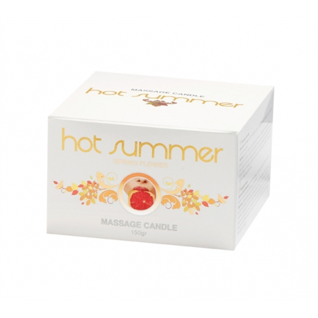 Hot summer Massage candle TIN (Spring flower)