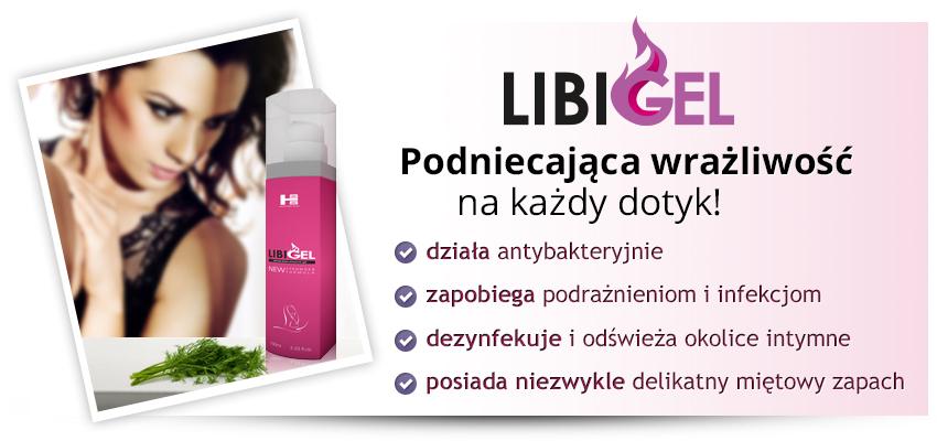 Infografika LIBIGEL - podniecająca wrażliwość na każdy dotyk. Działa antybakteryjnie, zapobiega podrażnieniom i infekcjom, dezynfekuje i odświeża okolice intymne.