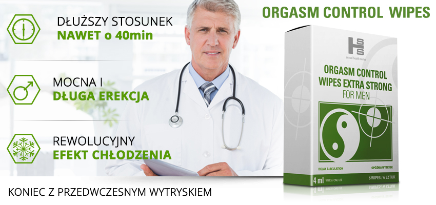 Orgasm Control Wipes (6szt) - środek przedłużający stosunek!