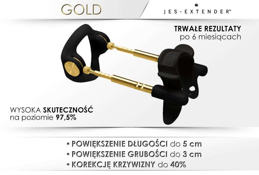 Potężny penis z Jes-Extender - Gold!