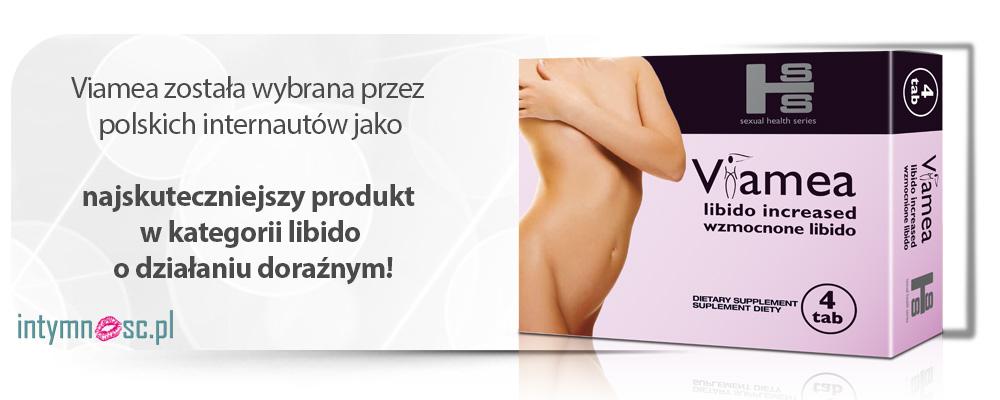 Banner - Viamea została wybrana przez polskich internautów jako najskuteczniejszy produkt w kategorii libido o działaniu doraźnym