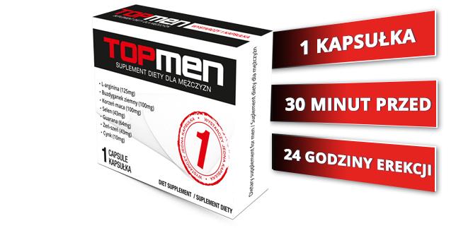 TopMen 1 kapsułka - mocna erekcja w 1 kapsułce!